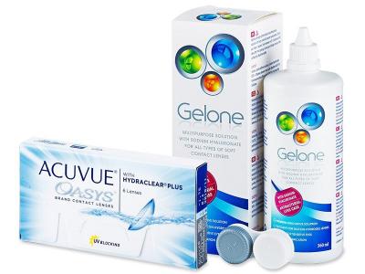 Acuvue Oasys (6 kom leća) + Gelone 360 ml
