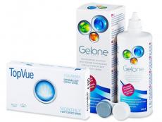 TopVue Monthly (6 kom leća) + Gelone 360 ml