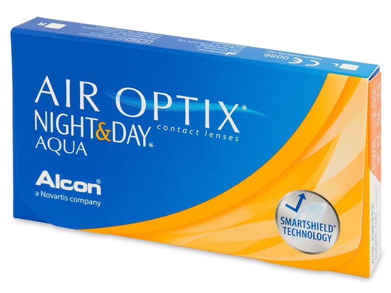 Air Optix Night and Day Aqua (3komleća) - Mjesečne kontaktne leće